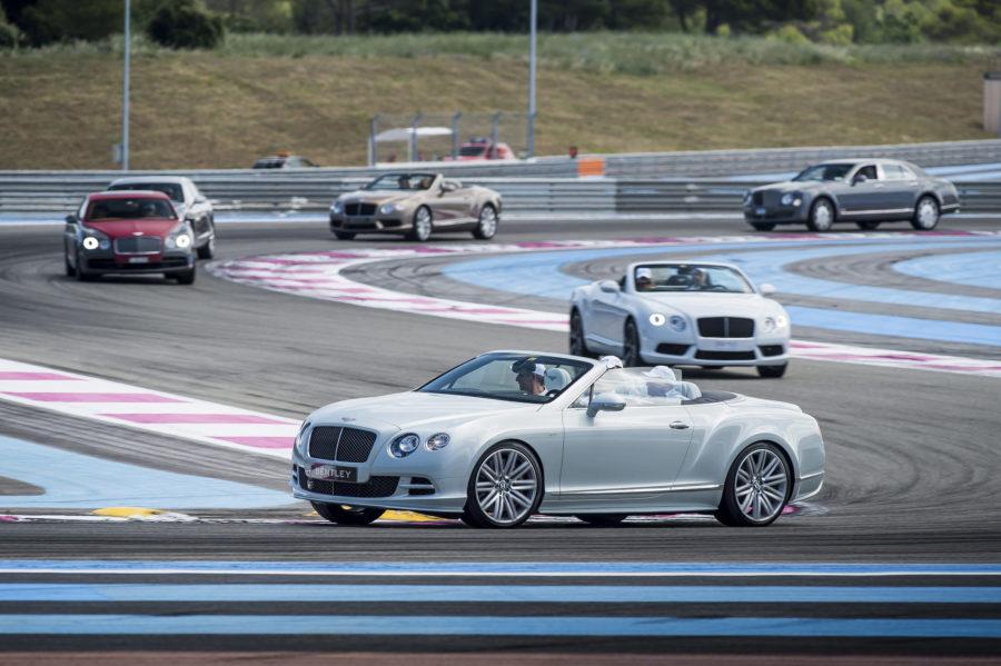 Bernadó con Bentley en el circuito Paul Ricart